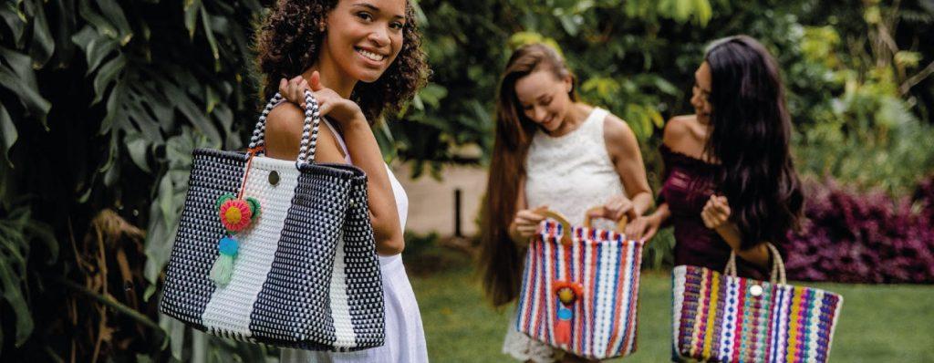 Bags recycled plastic fiber